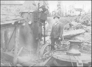 Dolbeer steam donkey engine
